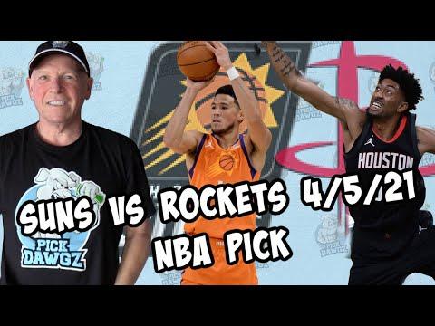 Houston Rockets vs Phoenix Suns 4/5/21 Free NBA Pick and Prediction (NBA Betting Tips)