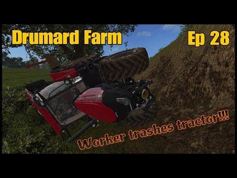 Let's Play Farming Simulator 17 PS4: Drumard Farm, Ep 28