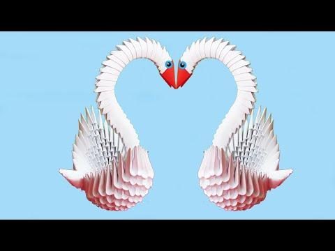 Модульное Оригами Лебедь. Легкая Поделка из Модулей