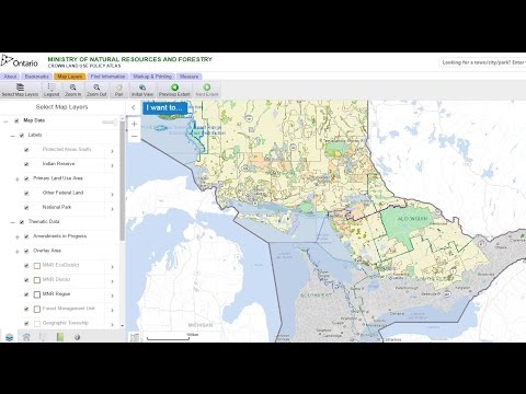 How To Find Crown Land and Permitted Activities in Ontario CANADA