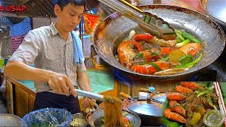 How to make Casseroled Shrimp King Prawns Glass Noodle | Street Food
