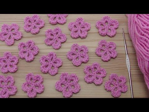 Вязание цветков крючком видео