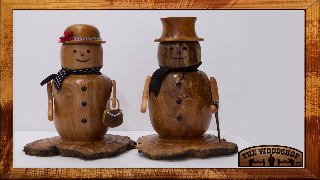 Woodturning Project Snowman Couple Youtube