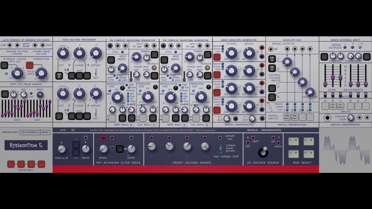 free buchla system 1 modular synthesizer vst emulation youtube. Black Bedroom Furniture Sets. Home Design Ideas