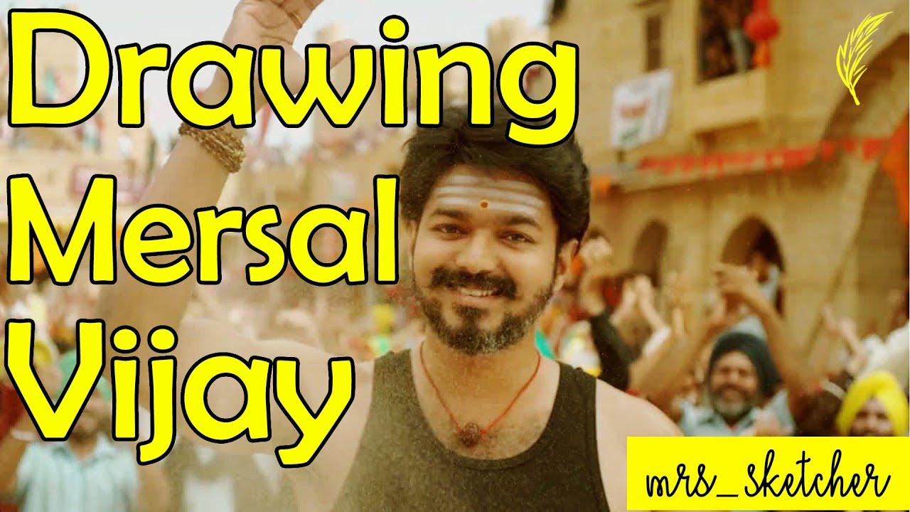 Drawing Mersal Vetrimaaran - Joseph Vijay || Pencil Sketch ...