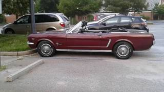 A BEAUTIFUL  BURGUNDY  1965 FORD MUSTANG!