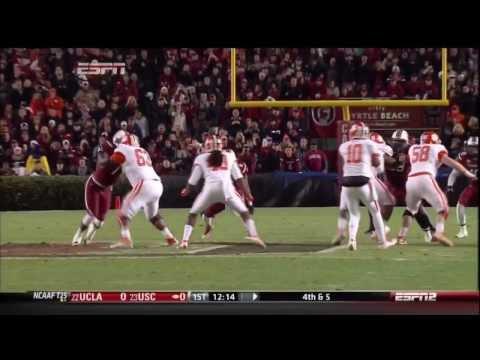2013 USC vs Clemson - Jadeveon Clowney Sack