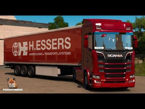 ETS2 1.28 ProMods 2.20 | Scania S730 V8 | England Hull - Ireland Dublin (Baile Átha Cliath)