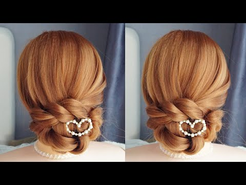 Everyday Easy Hairstyles - Beautiful Hairstyles for wedding/party/function | Wedding Bun Updo