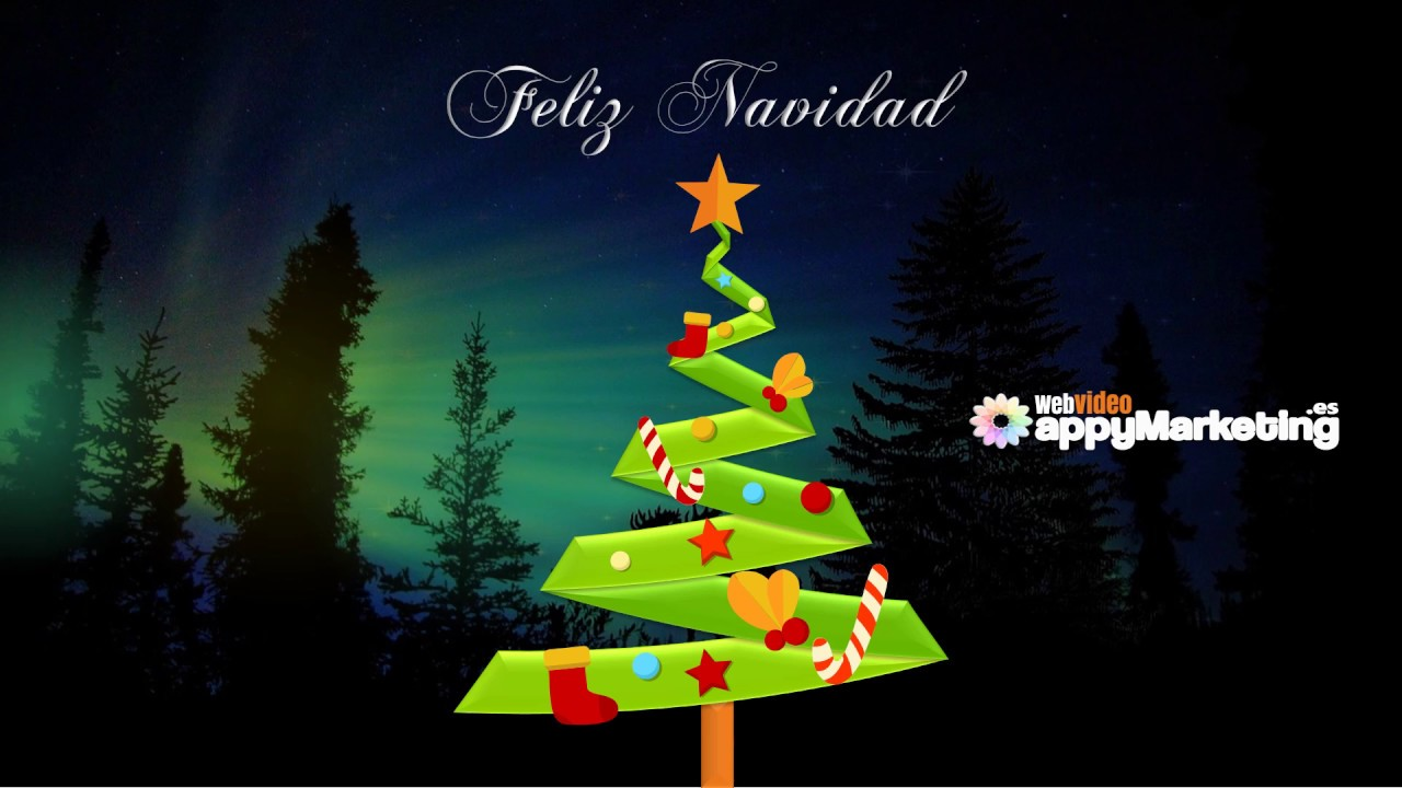Tarjeta Navidad De Powerpoint A Video Youtube