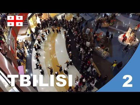 Georgia: Open market in Tbilisi and shopping mall