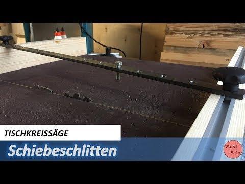 schiebeschlitten f r tischkreiss ge cross cut sled for table saw youtube. Black Bedroom Furniture Sets. Home Design Ideas