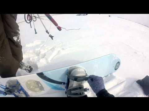 Snowkiting in Saskatchewan