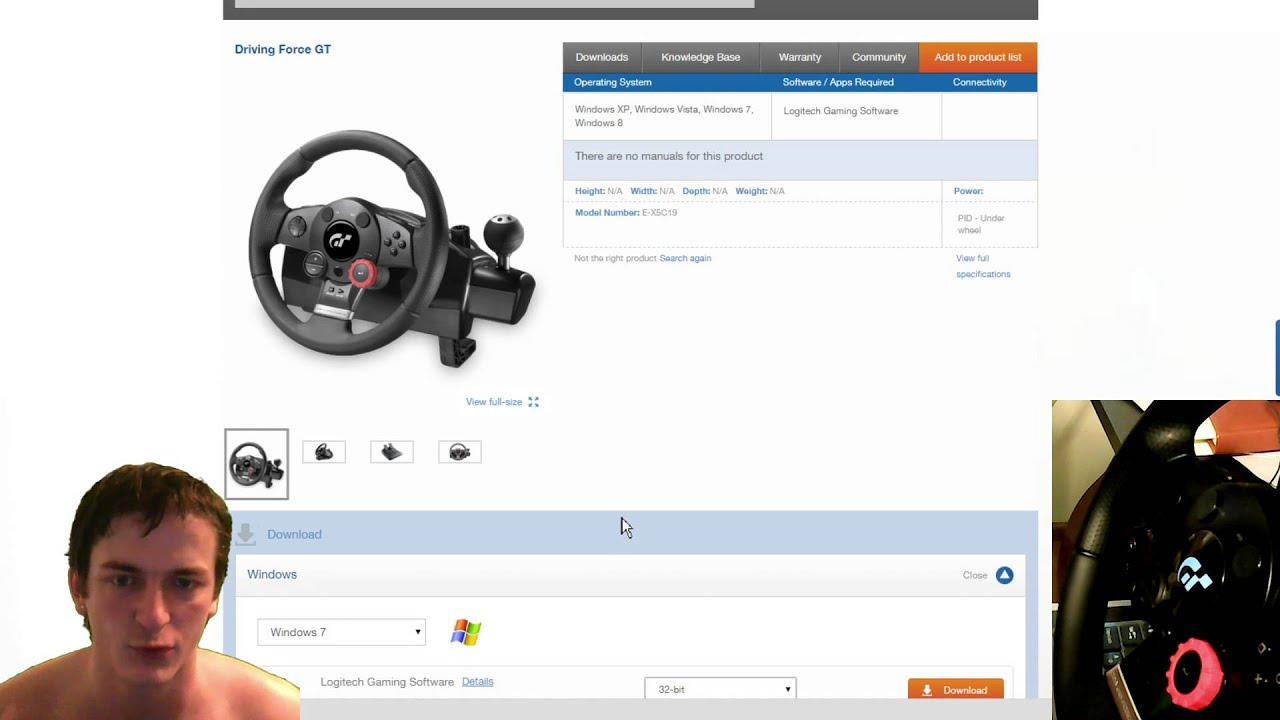 Logitech Driving Force GT Full Review PC - YouTube