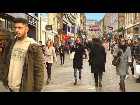 London Walk - Oxford Street to Carnaby Street - England, UK