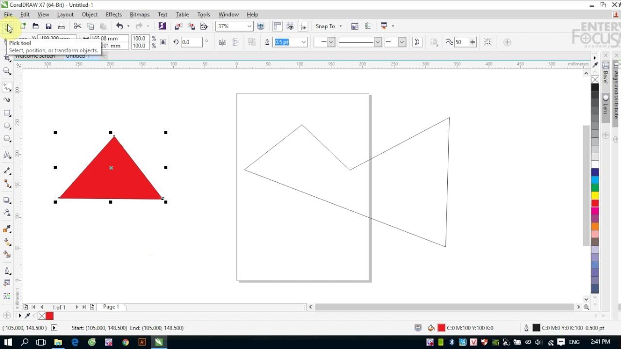 Hướng dẫn vẽ và hiệu chỉnh hình trong CorelDRAW