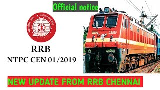 RRB NTPC NEW UPDATE || CORRIGENDUM 7 RELEASED BY RRB CHENNAI || #RRBCHENNAI