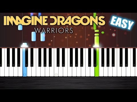 Imagine Dragons - Warriors (League of Legends) - EASY Piano Tutorial by PlutaX