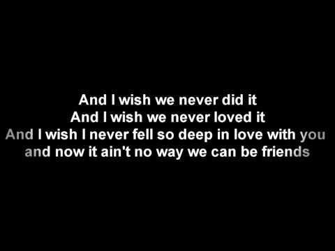 Trey Songz  Cant Be Friends Lyrics