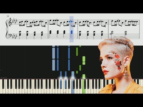 Halsey - Sorry - Piano Tutorial + Sheets