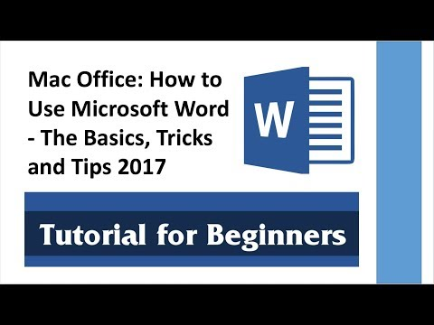 Mac Office: How to Use Microsoft Word - The Basics, Tricks and Tips 2018