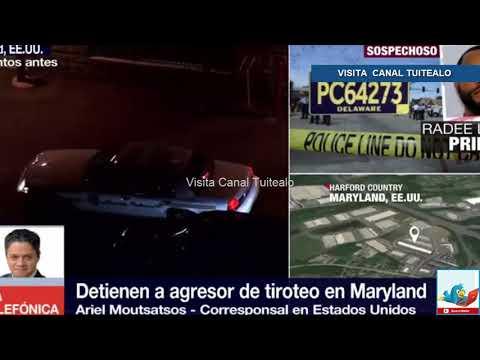 Detienen al responsable de la balacera en Maryland Video