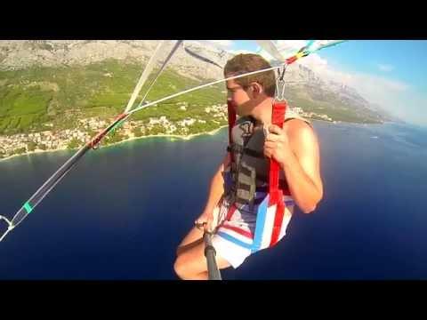 Parasailing in Brela, Croatia