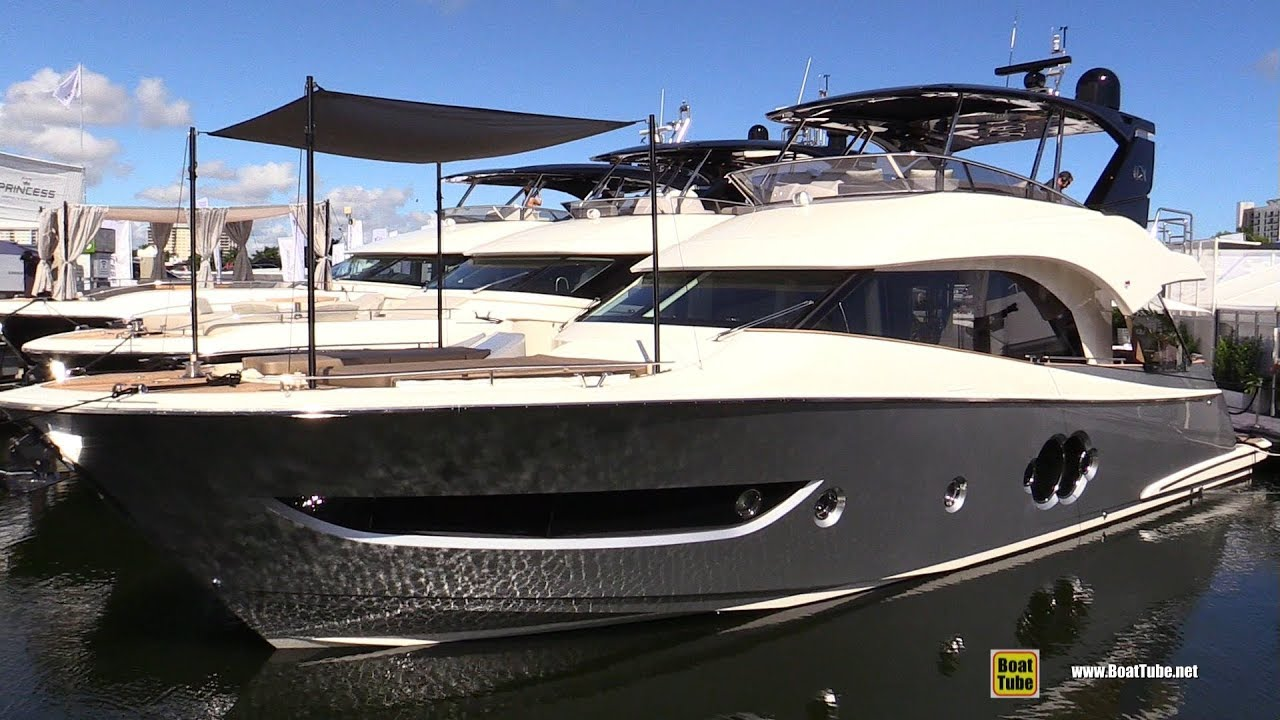 Fort Lauderdale Boat Show 2020.2020 Monte Carlo Yachts 66 Luxury Yacht Walkaround Tour 2019 Fort Lauderdale Boat Show