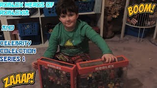 ROBLOX HEROS OF ROBLOXIA & CELEBRITY COLLECTION SERIES 1 - 12 PACK JAZWARES OPENING TOY REVIEW