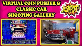 Virtual Coin Pusher Fruits Camp (Fruit Mania) at Tilt Studios Arcade! OMG It has a JACKPOT! TeamCC