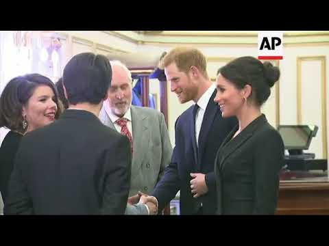 Prince Harry and Meghan Markle attend a charity performance of 'Hamilton' in aid of their Sentebale Mp3