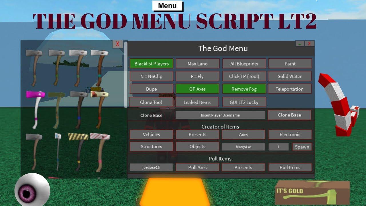 THE GOD MENU OP LUMBER TYCOON 2 SCRIPT (NEW UPDATED ROBLOX)