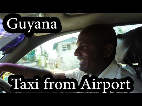 (1/2) Guyana - Taxi Ride From Airport Georgetown - Sept 2017