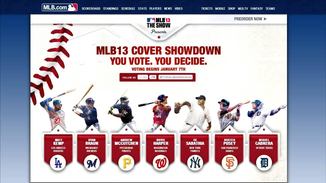 Mlb 13 The Show Cover Vote Full List Youtube
