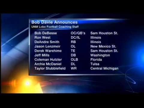 Bob Davie announces staff at New Mexico