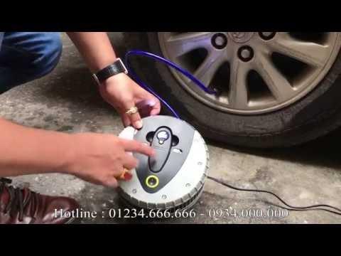 Bơm lốp ô tô Michelin 12260  Có đồng hồ đo áp suất lốp điện tử kèm theo