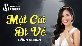 Một Cõi Đi Về | Hồng Nhung | Karaoke | Official MV