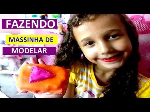 FAZENDO MASSINHA DE MODELAR EM CASA