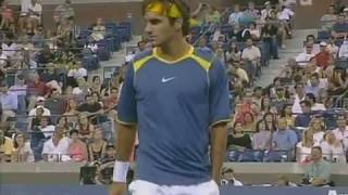 TWO MAGICIANS! Federer vs Santoro ● 2R US Open 2005 Highlights