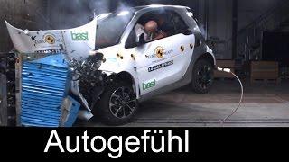 Smart fortwo & Smart forfour 2015 crash test 4/5 stars - Autogefühl