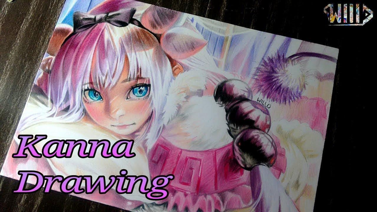 Drawing - Kanna (Maid Dragon)