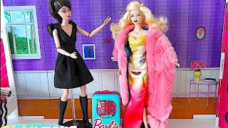 Magic Barbie Doll Saves Barbie Girl Dress and Make up Party! 🎀 thumbnail