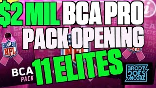 MADDEN MOBILE 17 2 MILLION COIN BLIND BCA PRO PACK OPENING! OMG SO MANY ELITES! Madden Mobile 17