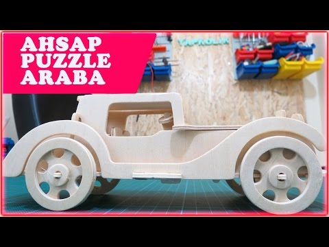 Ahşap Maket Araba 3d Wooden Puzzle Car Youtube