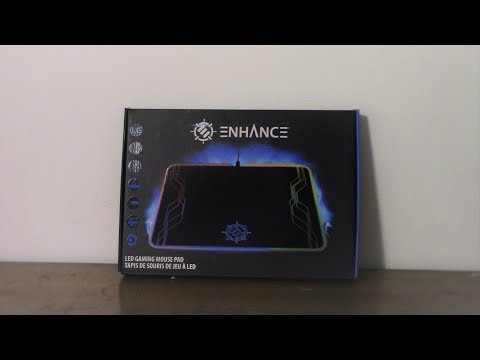 ENHANCED LED Gaming Mouse Pad (RGB) Unboxing And Review