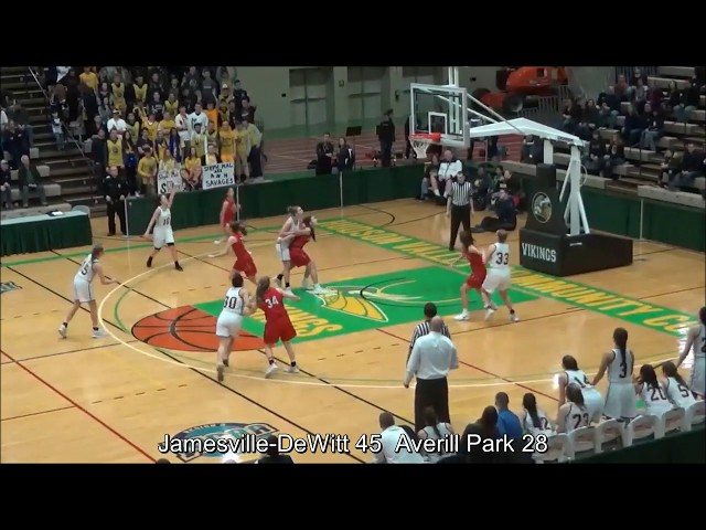Game Highlights Girls' Varsity: Jamesville-DeWitt 55 vs Averill Park 41 (F)