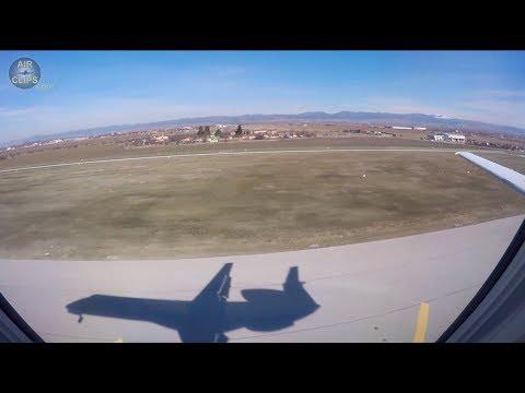 Amazing Embraer 145 Shadow! Beautiful Dnieproavia winter landing in Sofia, Bulgaria! [AirClips]
