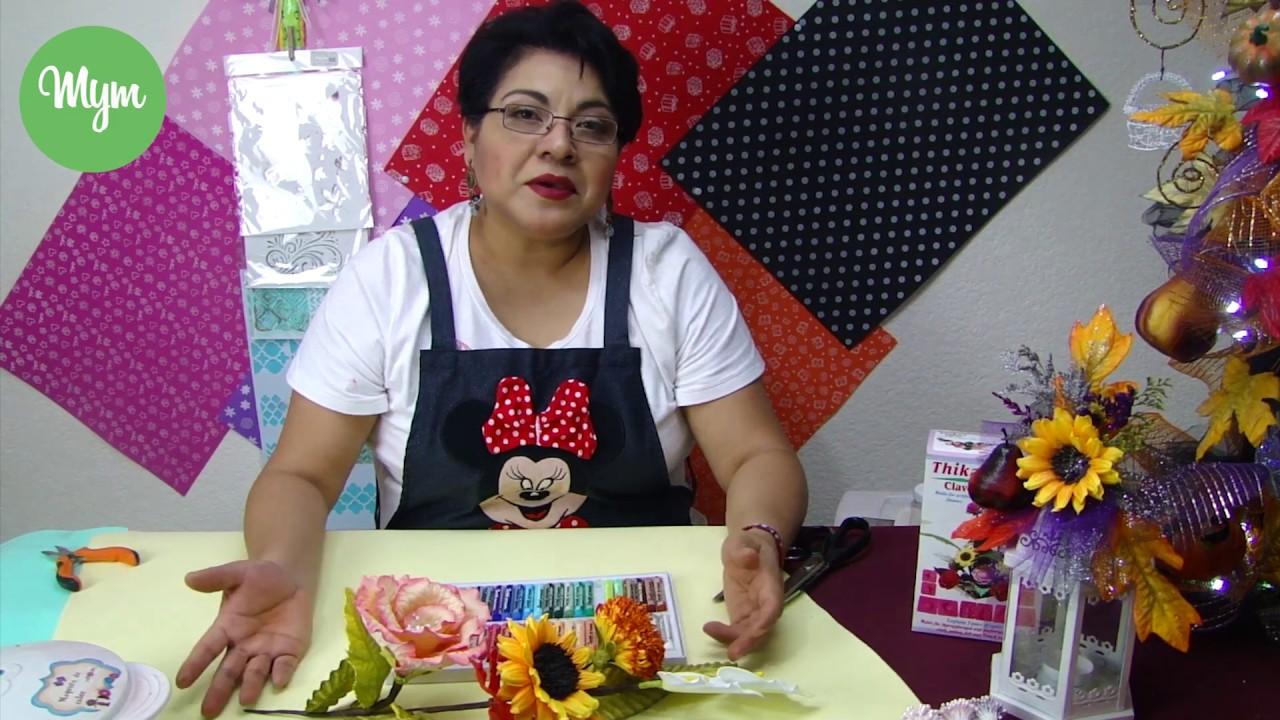 La manualidad más SENCILLA y REALISTA Caja Clavel Moldes Flores - YouTube