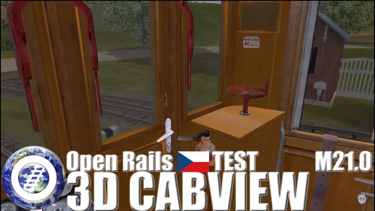 Open Rails 3D Cab test - Czech ČSD M21 004 by World of Open Rails