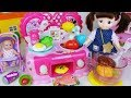 Baby doll kitchen and surprise eggs cooking food toys play 아기인형 주방 요리놀이 서프라이즈 에그 장난감놀이 - 토이몽